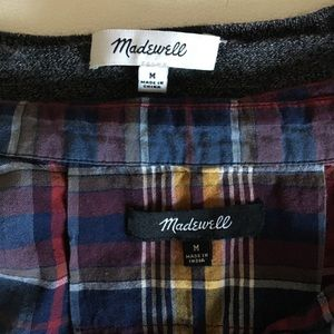 Two Madewell Shirts Sz M